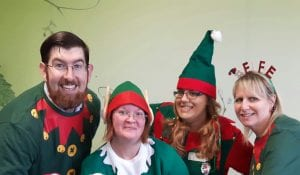Elf Steps Crew - Jay, Carol, Lynsey and Ruth