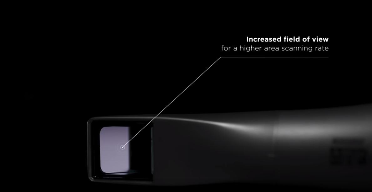 CEREC Primescan - increased field of view